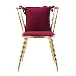Červená židle Mauro Ferretti Glam Backy