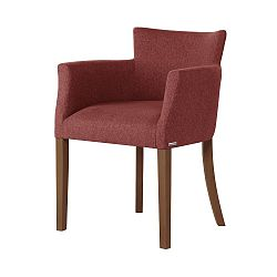 Červená židle s tmavě hnědými nohami Ted Lapidus Maison Santal
