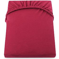 Červené elastické prostěradlo DecoKing Nephrite, 220–220cm