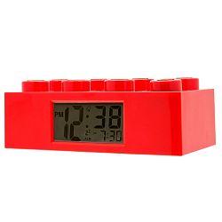 Červené hodiny s budíkem LEGO® Brick