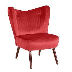 Červené křeslo Max Winzer Sari Velvet