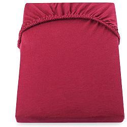 Červené prostěradlo DecoKing Amber Collection, 180-200 x 200 cm