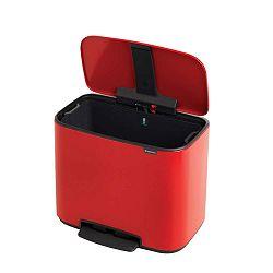 Červený odpadkový pedálový koš Brabantia Bo, 36l