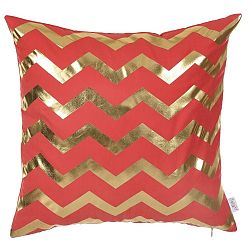 Červený povlak na polštář Apolena Zig Zag, 45 x 45 cm