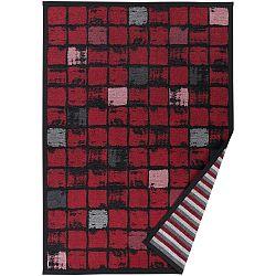 Červený vzorovaný oboustranný koberec Narma Telise, 140x200cm