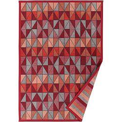 Červený vzorovaný oboustranný koberec Narma Treski, 70x140cm