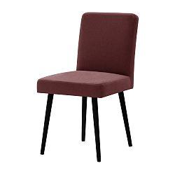 Cihlově červená židle s černými nohami Ted Lapidus Maison Fragrance
