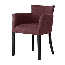 Cihlově červená židle s černými nohami Ted Lapidus Maison Santal