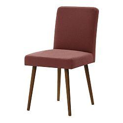 Cihlově červená židle s tmavě hnědými nohami Ted Lapidus Maison Fragrance
