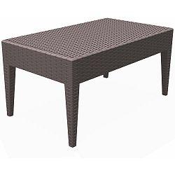Čokoládově hnědý zahradní konferenční stůl Resol Arctic, 45 x 53 cm