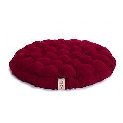 Cyklamenově růžový sedací polštářek s masážními míčky Lindy Vrňáková Bloom, Ø65cm
