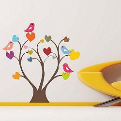 Dekorativní nálepka na stěnu Heart Tree