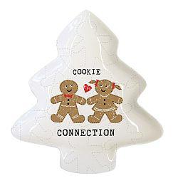 Dekorativní tác z kostního porcelánu s vánočním motivem PPD Cookie Connection