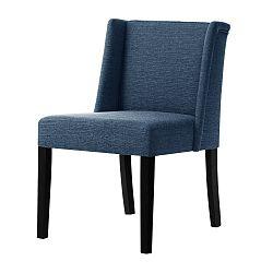 Denimově modrá židle s černými nohami Ted Lapidus Maison Zeste