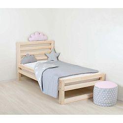 Dětská dřevěná jednolůžková postel Benlemi DeLuxe Naturalisimo, 160x120cm