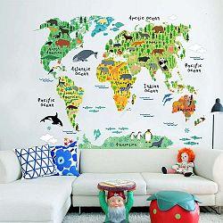 Dětská nástěnná samolepka Ambiance World Map