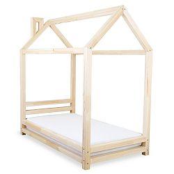 Dětská postel z lakovaného smrkového dřeva Benlemi Happy,80x180cm