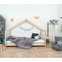 Dětská postel z lakovaného smrkového dřeva Benlemi Sidy, 70 x 160 cm