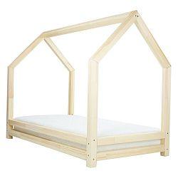 Dětská postel z přírodního smrkového dřeva Benlemi Funny, 90 x 160 cm