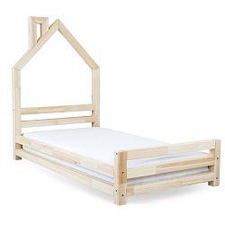 Dětská postel z přírodního smrkového dřeva Benlemi Wally,80x180cm