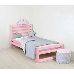 Dětská růžová dřevěná jednolůžková postel Benlemi DeLuxe, 180x120cm