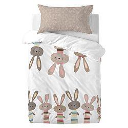Dětské bavlněné povlečení Moshi Moshi Rabbit Family, 115x145cm