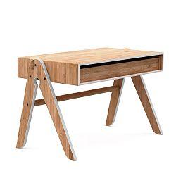 Dětský psací stůl z bambusu Moso s šedými detaily We Do Wood Geo's