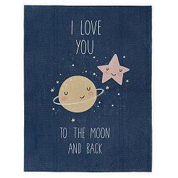 Dětský ručně vyrobený koberec Naf Naf Love To The Moon, 120 x160cm