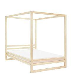 Dřevěná dvoulůžková postel Benlemi Baldee Nature, 200x190cm