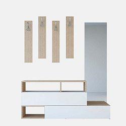 Dřevěná sestava do předsíně Charles Brown, šířka 137 cm