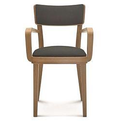 Dřevěná židle s tmavě šedým polstrováním Fameg Lone