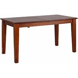 Dřevěný rozkládací jídelní stůl v barvě kaštanového dřeva Støraa Amarillo, 180x76cm