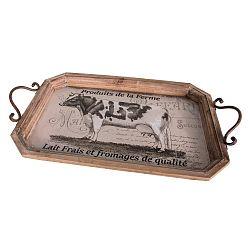 Dřevěný servírovací tác Antic Line Cow