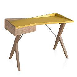 Dubový pracovní stůl Ángel Cerdá Yellow