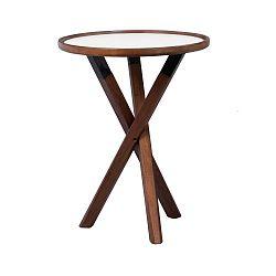 Dubový stolek v barvě ořechu Folke Sphinx, ⌀ 50 cm