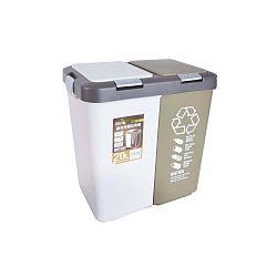 Dvojitý odpadkový koš na tříděný odpad Orion Duo Dust, 20l