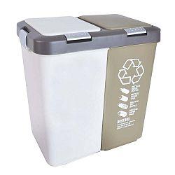Dvojitý odpadkový koš na tříděný odpad Orion Duo Dust, 40l