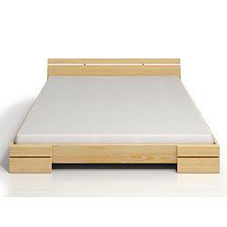 Dvoulůžková postel z borovicového dřeva s úložným prostorem SKANDICA Sparta Maxi, 140x200cm