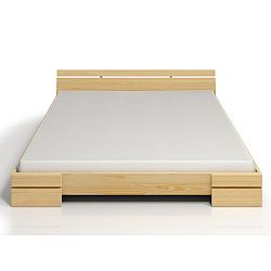 Dvoulůžková postel z borovicového dřeva s úložným prostorem SKANDICA Sparta Maxi, 200x200cm