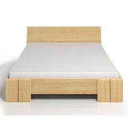 Dvoulůžková postel z borovicového dřeva SKANDICA Vestre Maxi, 200x200cm