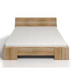 Dvoulůžková postel z bukového dřeva s úložným prostorem SKANDICA Vestre Maxi, 140x200cm
