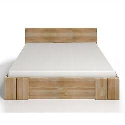 Dvoulůžková postel z bukového dřeva se zásuvkou SKANDICA Vestre Maxi, 200x200cm