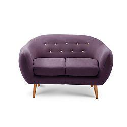Fialová dvoumístná sedačka Scandi by Stella Cadente Maison Constellation