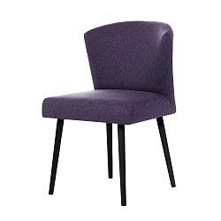 Fialová jídelní židle sčernými nohami My Pop Design Richter