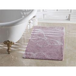 Fialová koupelnová předložka Confetti Bathmats Butterfly Dark and Light Lilac, 70 x 120 cm