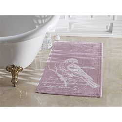 Fialová koupelnová předložka Confetti Bathmats Cuckoo Dark and Light Lilac, 70 x 120 cm