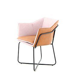 Fialovo-růžová jídelní židle 360 Living Miretta