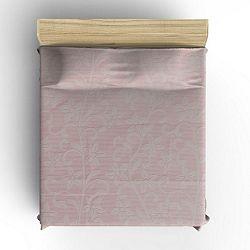 Fialový bavlněný přehoz přes postel Hutna, 200 x 220 cm