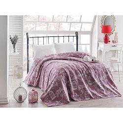 Fialový lehký přehoz přes postel Samyel, 200x235cm