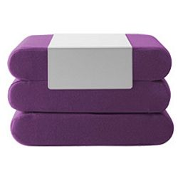 Fialový rozkládací puf Softline Bingo Vision Purple